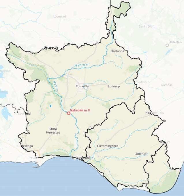 Vattenrådets geografiska begränsningsområde