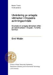 masteruppsats om anlagda våtmarkers effekt på vattenkvaliteten i Örupsån.